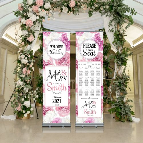 Wedding Roller Banner N8 - Welcome to our Wedding / Table Seating Plan